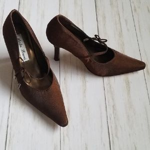 Shoes - Mister Lorens Brown Shimmer Shoes